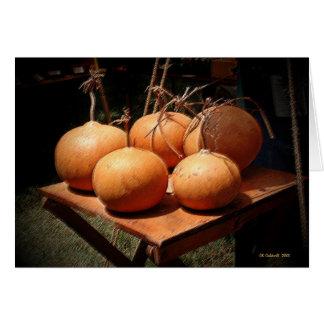 Sunset Pumpkins Card