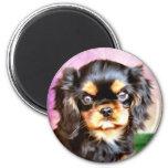 Sunset Puppy Fridge Magnets