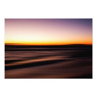 Sunset Purple Orange Ocean Beach Seascape Art Pic Photo Print
