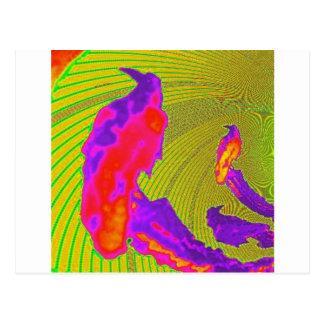 Sunset Purple Raven Modern Design By sharles Postcard