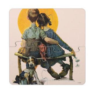 Sunset Puzzle Coaster