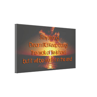 Sunset Quote Over The Ocean Canvas Print