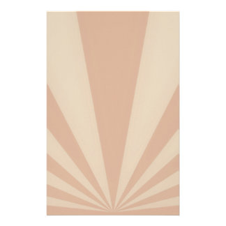 Sunset Rays Coral Stationery