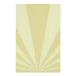 Sunset Rays Gold Stationery