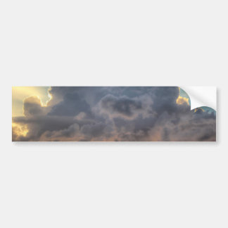 Sunset Rays of Light through Stormy Clouds Bumper Sticker