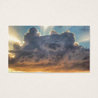 Sunset Rays of Light through Stormy Clouds Business Card