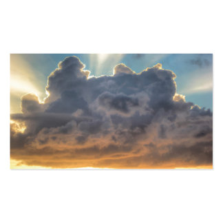 Sunset Rays of Light through Stormy Clouds Double-Sided Standard Business Cards (Pack Of 100)