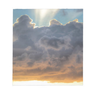 Sunset Rays of Light through Stormy Clouds Notepad