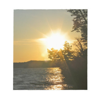 Sunset Rays on the Lake Memo Notepads