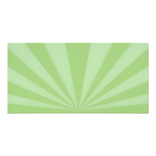 Sunset Rays Springtime Green Picture Card