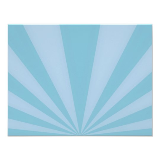 Sunset Rays Teal Blue Card