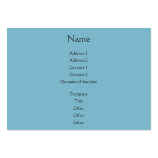Sunset Rays Teal Blue Large Business Card