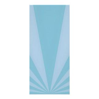 Sunset Rays Teal Blue Rack Card Design