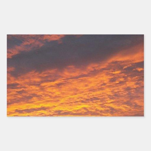Sunset Rectangular Sticker