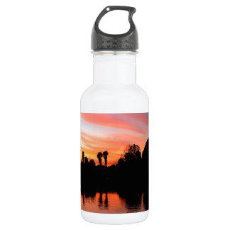Sunset Red Amber Glow Water Bottle