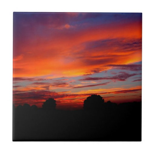 Sunset Red Humour Ceramic Tiles