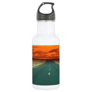 Sunset Red Road Sky Stainless Steel Water Bottle