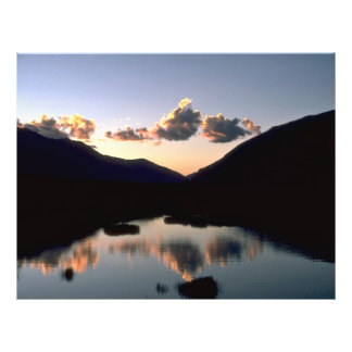 """Sunset reflected in Himalayan pond 8.5"""" X 11"""" Flyer"""
