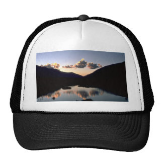 Sunset reflected in Himalayan pond Mesh Hat