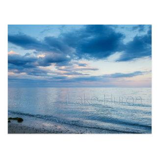 Sunset Reflecting on Lake Huron Postcard