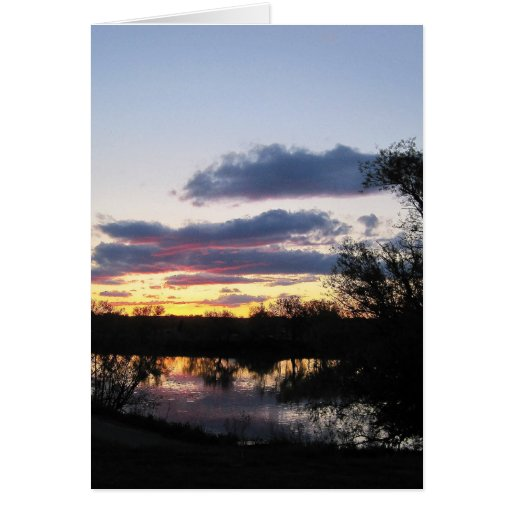 Sunset reflecting on Snake River by Payette, Id Greeting Card