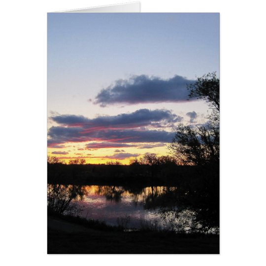 Sunset reflecting on Snake River by Payette, Id Card