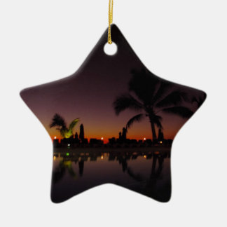 Sunset Reflection Ceramic Ornament