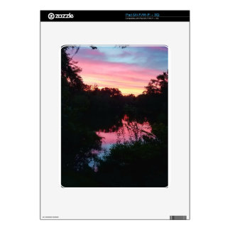 Sunset Reflections Before the Storm iPad Skin