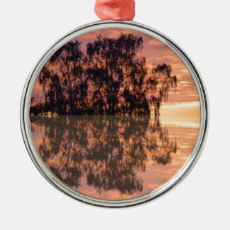Sunset reflections metal ornament