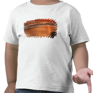 Sunset reflections off clouds and ocean shore tshirt