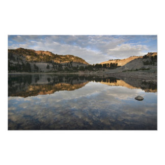 Sunset reflections on Lake Helen, Lassen Photographic Print