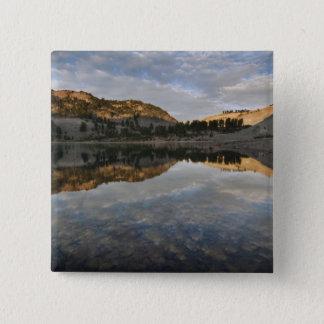 Sunset reflections on Lake Helen, Lassen Pinback Button