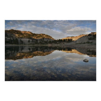 Sunset reflections on Lake Helen, Lassen Print