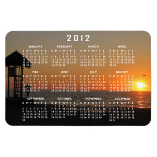 Sunset Resting Spot; 2012 Calendar Rectangular Photo Magnet