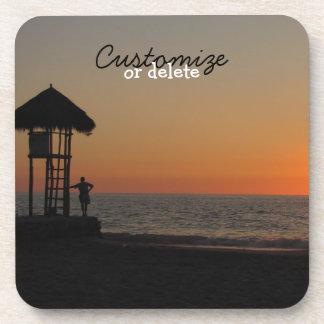 Sunset Resting Spot; Customizable Drink Coaster