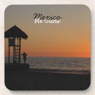 Sunset Resting Spot; Mexico Souvenir Coaster