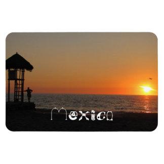 Sunset Resting Spot; Mexico Souvenir Rectangular Photo Magnet