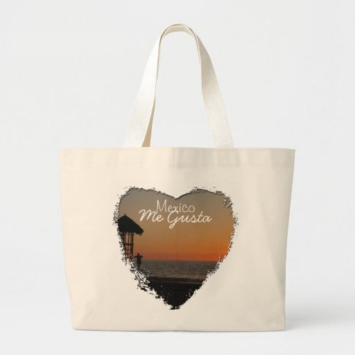 Sunset Resting Spot; Mexico Souvenir Tote Bags