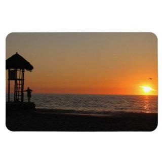 Sunset Resting Spot Rectangular Photo Magnet