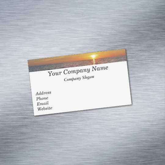 Sunset Retirement Business Card Zazzle