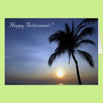sunset retiring palm card