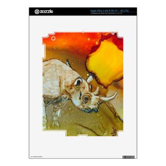Sunset Rhino iPad 3 Skins