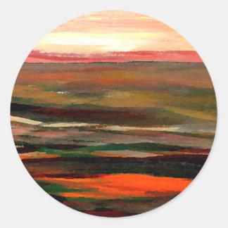 Sunset Ribbons  CricketDiane Ocean Art Round Sticker