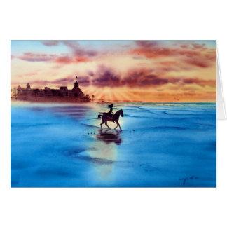 SUNSET RIDE, CORONADO BEACH, CALIFORNIA CARD