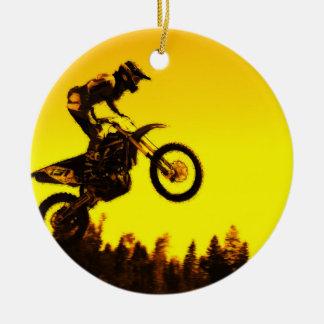 Sunset Ride   -  Motocross Rider Ceramic Ornament
