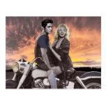 Sunset Ride Postcard