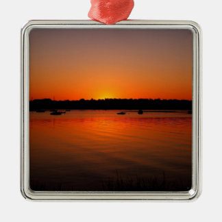 Sunset Ripples Reflected Ornament