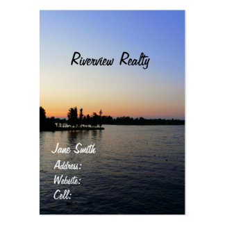 Sunset/Riverview-Real Estate Company Large Business Cards (Pack Of 100)
