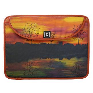 Sunset RK more river Sleeve For MacBooks