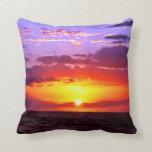 Sunset RK Sea Throw Pillows